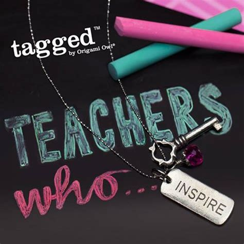 Origami Owl Tagged - tag your teachers with origami owl tagged necklace