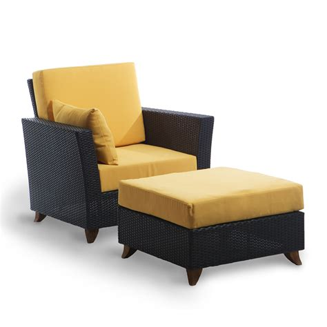 chair ottoman sets rattan deep chair and ottoman set