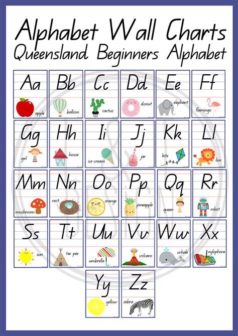 printable alphabet wall chart alphabet wall charts qld beginners alphabet