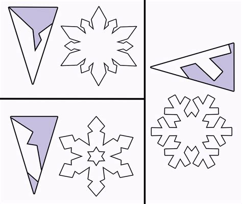 snowflake outline template printable paper snowflake template
