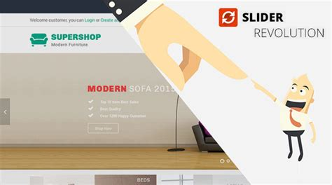 Sw Supershop Ready Made Design Solution For Wordpress Online Store Free Revolution Slider Templates