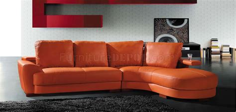 orange sectional sofa modern sectional sofa 7 orange
