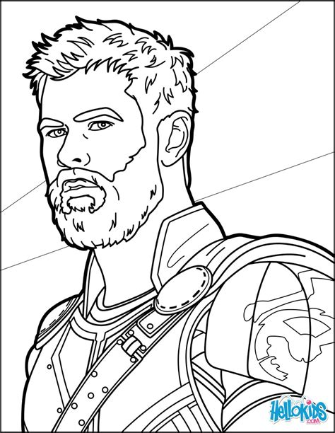 thor ragnarok coloring pages hellokids com
