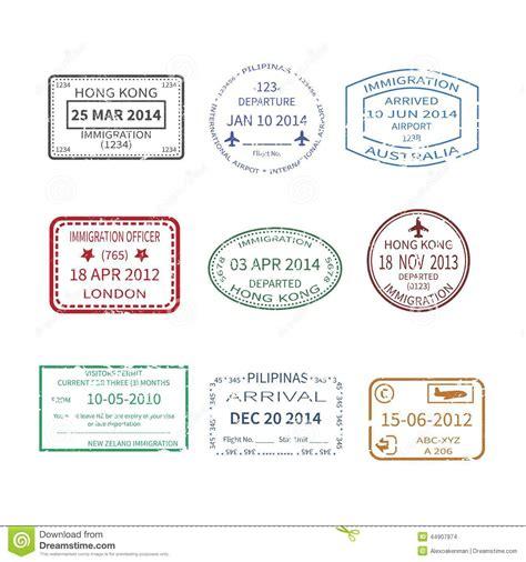 Visa Gift Card International Travel - vector international travel visa sts set stock vector image 44907974