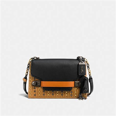 Coach Chain coach coach swagger chain crossbody with colorblock