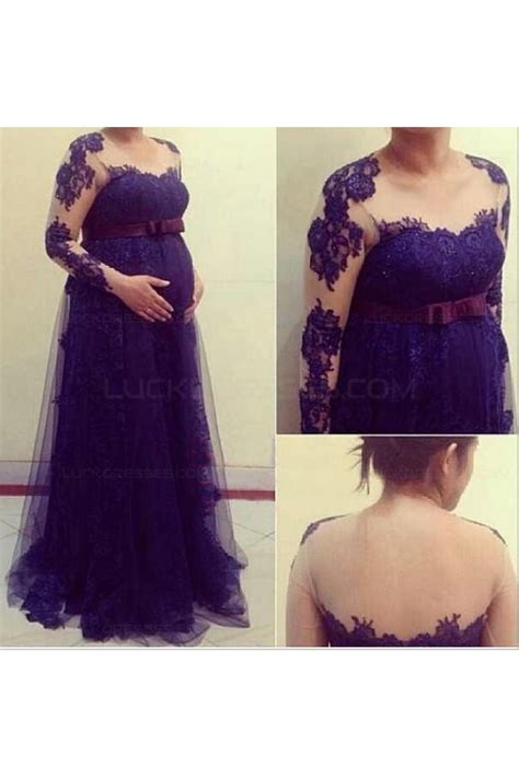 Sleeve Lace Maternity Dress sleeves purple lace maternity dresses evening gowns