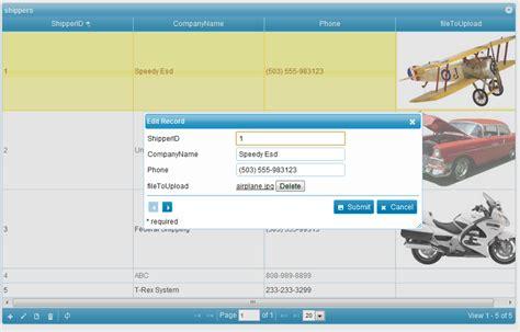 tutorial php upload file php datagrid ajax file upload phpgrid php datagrid