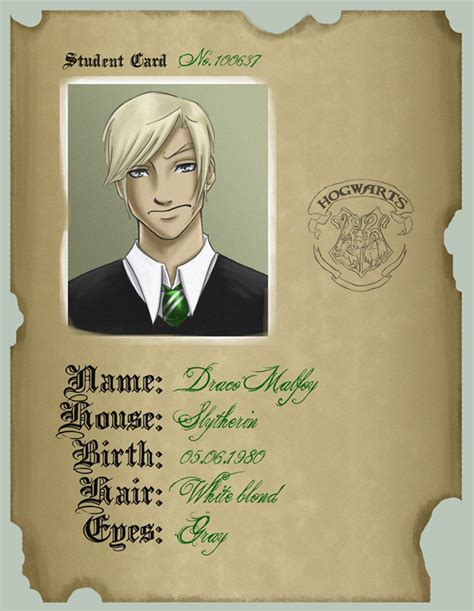 deviantart student id card template student card draco by uppun on deviantart