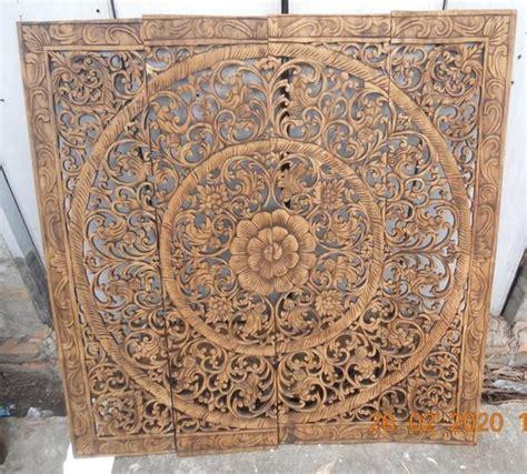 mandala wood carving panel    inches wall art hanging