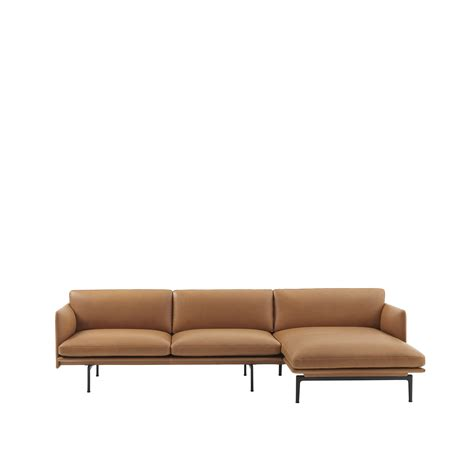 chaise longue leather sofa muuto canap 233 outline sofa chaise longue anderssen voll
