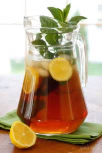 home brewed iced tea freshly brewed tea with fresh mint skinnytaste