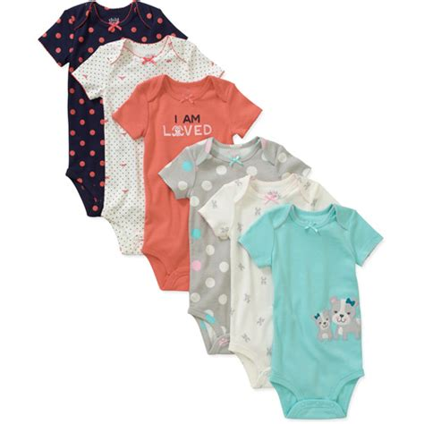 Child of mine by carters newborn bodysuits walmart com