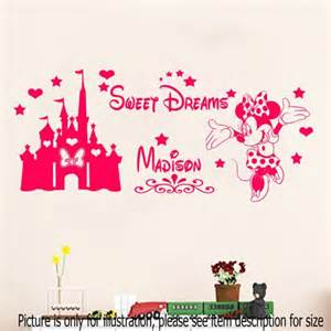 Disney Wall Art Stickers Disney Minnie Mouse Sweet Dream Castle With Personalized