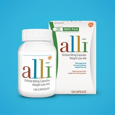 Alli Diet Pill Approved By Fda by New Weight Loss Aid Orlistat 60mg Capsules120ct Refill