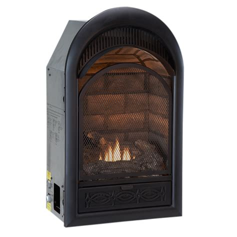 lowes gas fireplace insert shop procom 29 in w 20 000 btu black vent free dual burner