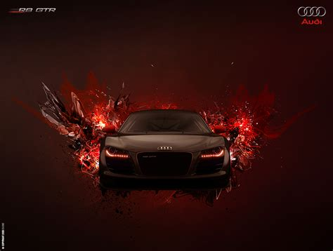Audi R8 Poster by Audi R8 Gtr Poster By Ev One On Deviantart