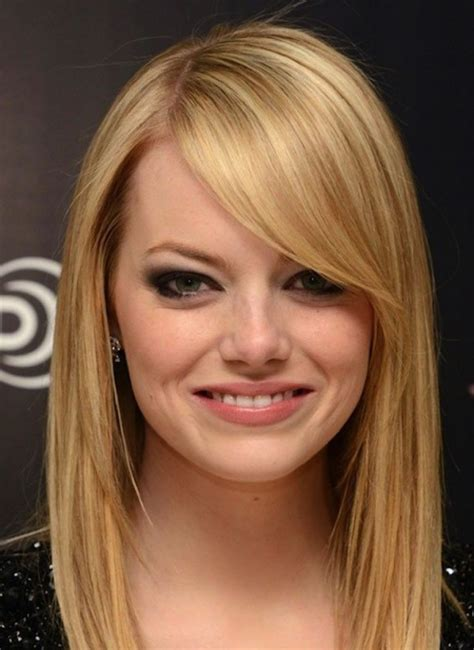 bob hairstyles with long bangs long bob hairstyles with side swept bangs hairstyle hits