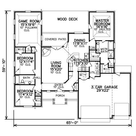 perry home plans floor plan 7090