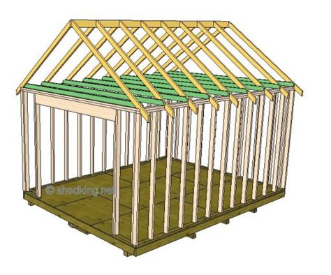 storage room   build  truss   shed roof