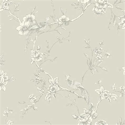 grey wallpaper shabby chic arthouse chinoise grey birds toile de jouy shabby chic