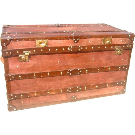 Handmade Trunk - handmade leather trunk fleury collection ruby