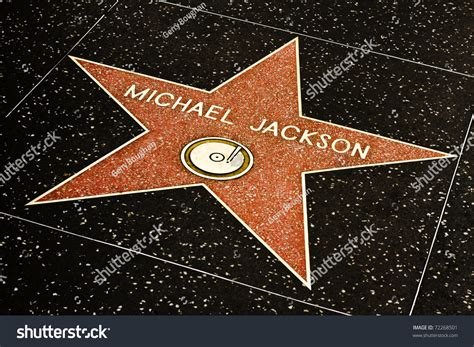 Los Angelesmarch 1 Michael Jacksons Star Stock Photo ... Hollywood Walk Of Fame Stars Michael Jackson