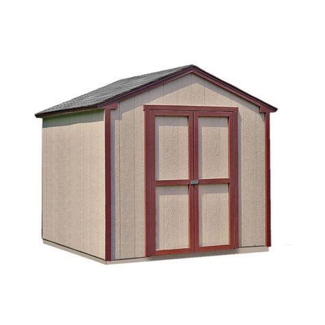handy home products kingston  ft   ft wood shed kit
