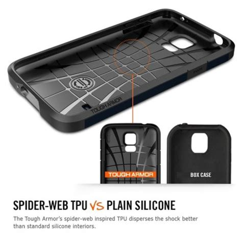 New Spigen Armor Shockproof For Samsung S5 S5 spigen tough armor for samsung galaxy s5 gunmetal