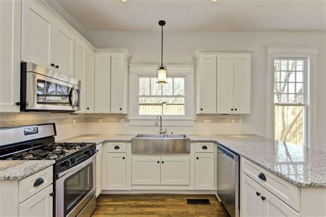 remodeled kitchens with painted cabinets white shaker cabinets kitchen remodeling