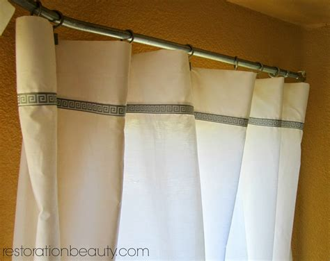 sheet curtains restoration beauty conduit pipe bay window curtain rod
