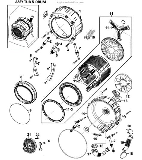 samsung washer parts parts for samsung wf328aaw xaa 0000 drum assy parts appliancepartspros