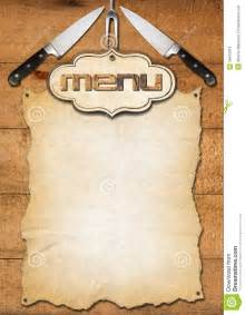 Empty Menu Templates by Rustic Menu Template Stock Illustration Image 39415914