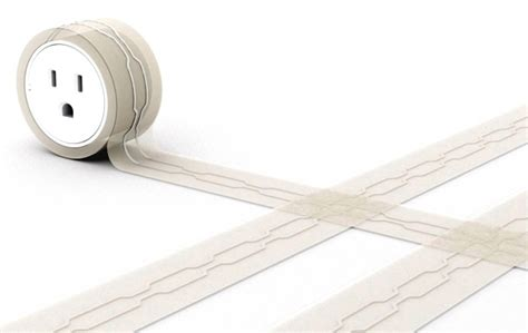 flat electrical cord rug no more trippin wires yanko design