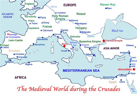 the crusades map the crusades to the holy land