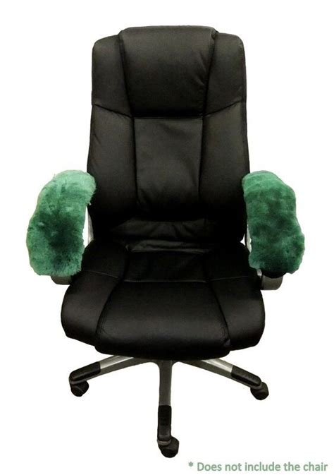 sheepskin armrest office arm chair cover fit  wheelchair scooter genuine wool ebay