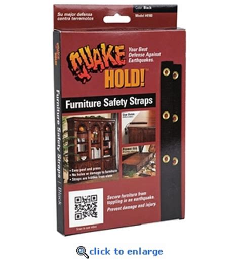 quakehold furniture straps package of 2 earthquake