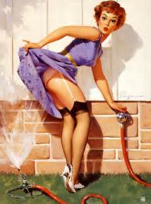 fun in the sun a look at elvgren pinups oh for the