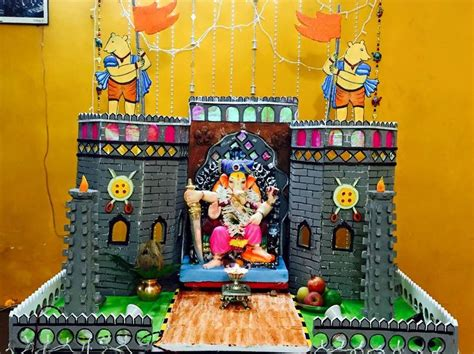 ganpati decoration at home ganpati decoration ideas at home with theme ganpati