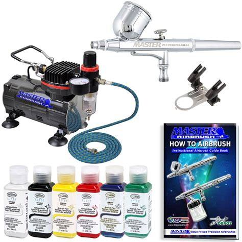 Masker Airbrush master airbrush brand complete airbrush system w paint g22 airbrush air compressor