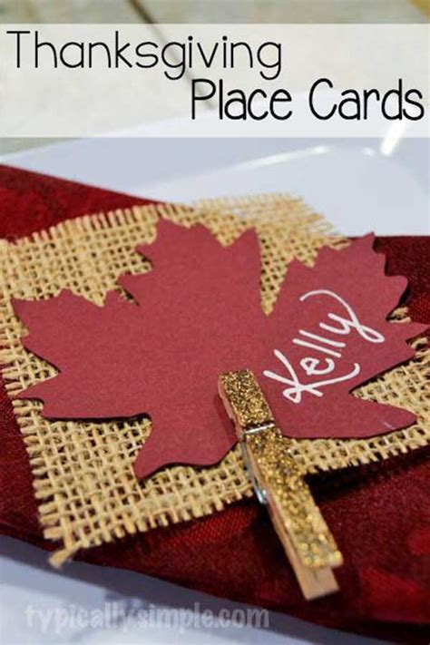 thanksgiving place cards for to make 24 simple diy ideas for thanksgiving place cards amazing