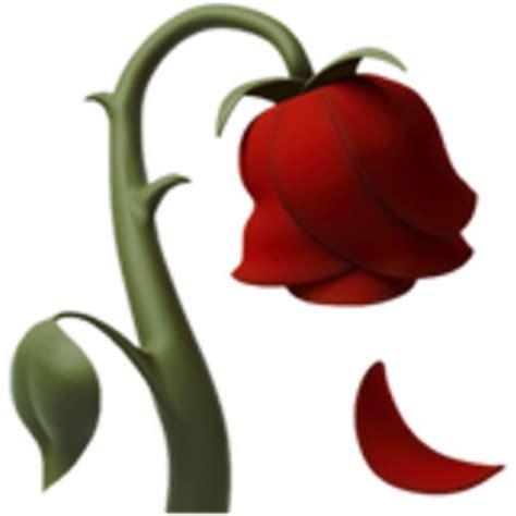 emoji rose wilted flower emoji u 1f940