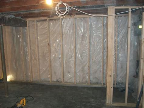 moisture barrier in basement concrete walls sealed and vapor barrier yelp