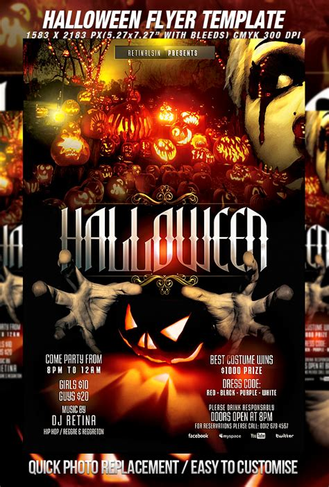 Template Photoshop Halloween | halloween poster templates photoshop wroc awski