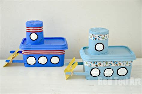 boat craft margarine tub tug boat craft ted s