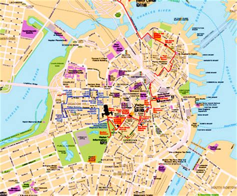 printable map boston best boston map for visitors boston discovery guide