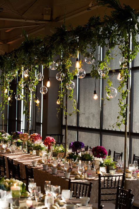 image result  festoon lights hanging greenery wedding