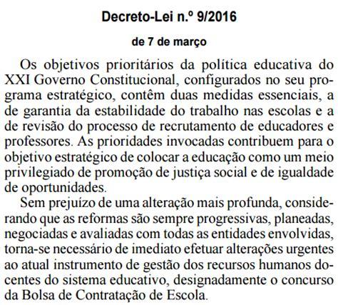 decreto 2423 de 2016 professores lusos decreto lei n 186 9 2016 de 7 de mar 231 o