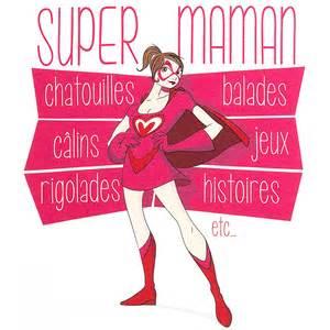 La Fete Des Pere #15: Tee-shirt-femme-blanc-super-maman.jpg