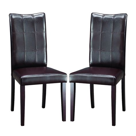 Black Brown Dining Chairs Modern Dining Chairs Brown Set Of 2 In Dining Chairs