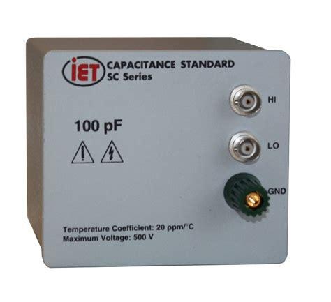 standard capacitor values 5 capacitance standard sca series capacitance standards iet